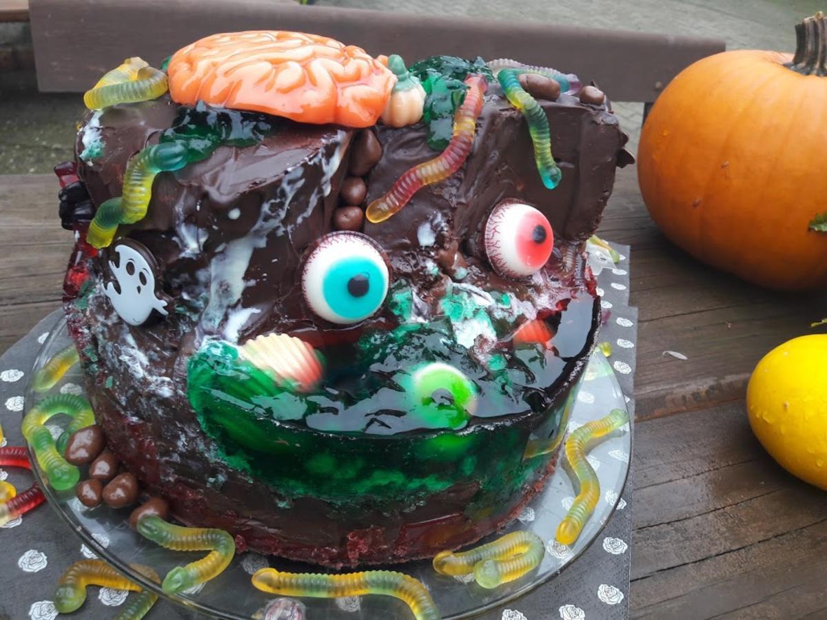 Halloween Rezepte Mit Bild.Halloween Grusel Insel Torte Rezept Mit Bild Kochbar De