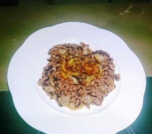 Risotto al Radicchio con pere e cipolla caramellata - Rezept - Bild Nr. 2