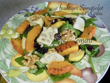 fruchtiger Spinat Salat und Ofen Kürbis - Rezept - Bild Nr. 2