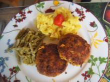 Kürbis-Frikadellen mit Prinzess-Bohnen und herzhaften Kartoffelstampf - Rezept - Bild Nr. 2