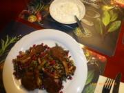 Lammkoteletts mit orientalischem Linsen-Reis-Salat - Rezept - Bild Nr. 10