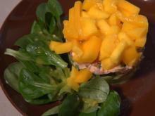 Avocado-Lachs Törtchen mit Mango Häubchen - Rezept - Bild Nr. 2