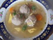 Suppe mit Leberknödeln, Gemüse, Eierstich und Suppennudeln - Rezept - Bild Nr. 2