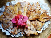 Frittierte Teigscherben mit Mandeln – Crostoli di mandorle - Rezept - Bild Nr. 2