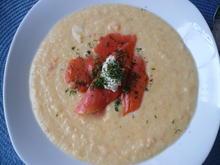 Sellerie - Cremesuppe mit Meerrettich und Lachs - Rezept - Bild Nr. 2