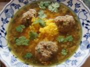Reissuppe mit Hackfleischbällchen - Rezept - Bild Nr. 2