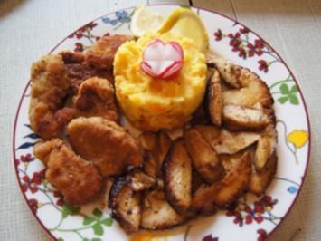 Schweinefiletschnitzelchen mit gebratenen Steinpilzen und Möhren-Kartoffel-Stampf - Rezept - Bild Nr. 2
