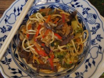 Rindfleisch-Gemüse-Nudel-Wok - Rezept - Bild Nr. 2