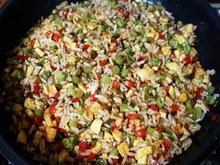 Mit Gemüse und Rührei gebratener Reis ala Desi - Rezept - Bild Nr. 2