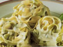 Grüne Bandnudeln mit Gorgonzola-Zabaione - Rezept