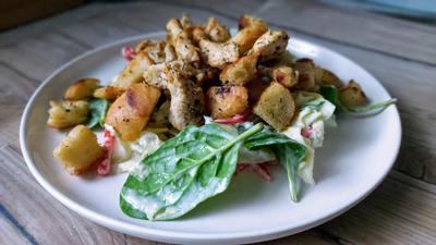 Hähnchen - Gemüse  - Salat - Rezept - Bild Nr. 4