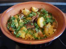 Steinpilz-Kartoffel-Gratin und Chinakohlsalat - Rezept - Bild Nr. 2
