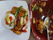 Fischstücke süß-sauer mit weißem Reis - Rezept - Bild Nr. 2