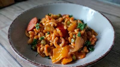Gabelspaghetti - Paella - Rezept - Bild Nr. 2