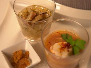 Bouillabaisse mit Rouille und Bayerische Zwiebelsuppe mit Brezenscheiben - Rezept - Bild Nr. 2