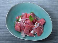 Wassermelonen-Feta-Minze Salat - Rezept - Bild Nr. 2