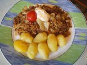 Spitzkohl-Hackfleisch-Pfanne mit Pellkartoffel-Drillingen - Rezept - Bild Nr. 2