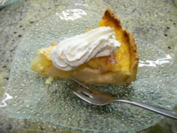 Birnenkuchen mit Puddingguss - Rezept