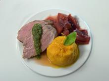 Schweinelende mit Kürbis-Kartoffelstampf und Pflaumenchutney - Rezept - Bild Nr. 2