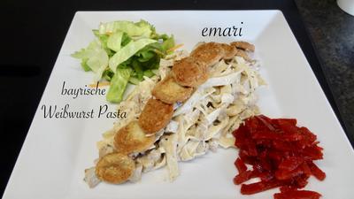 Bayrische Weißwurst Pasta - Rezept - Bild Nr. 2
