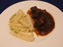 Schwarzwurzeln,  Beurre blanc,  Gulasch - Rezept - Bild Nr. 6