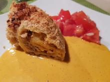 Pasta-Strudel mit Kürbis, Hack und Feta - Rezept - Bild Nr. 2
