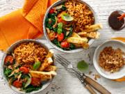 Food Bowl mit Spinat, Tofu und Röstzwiebeln - Rezept - Bild Nr. 2