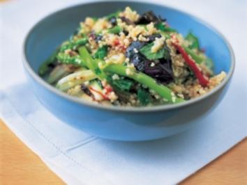 Couscous-Salat mit gegrilltem Gemüse und Kräutern - Rezept