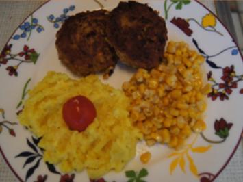 Gemüse-Hack-Buletten mit Zuckermais und Kartoffelstampf - Rezept - Bild Nr. 2