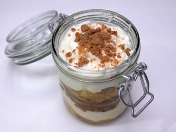 Bratapfel-Creme-Dessert mit Spekulatius-Crunch - Rezept - Bild Nr. 3