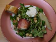 Feldsalat mit Himbeerdressing und karamellisierten Macadamianüssen - Rezept - Bild Nr. 2
