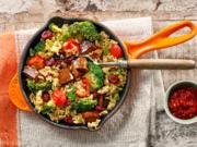 Brokkoli und Seitan mit Spitzen-Langkorn-Reis - Rezept - Bild Nr. 2
