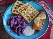 Lachsfilet mit Rote-Bete-Salat und Kartoffelwaffeln - Rezept - Bild Nr. 2