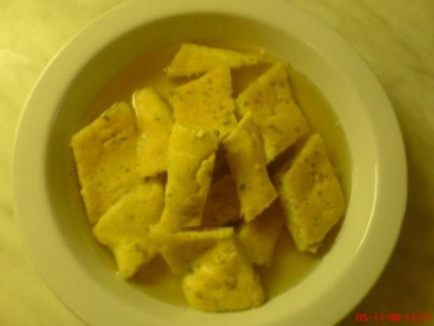Schinkenschöberl Suppe - Rezept