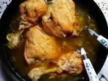 Hühnerschenkel in Weißweinsauce mit Salbei auf kretische Art - Rezept - Bild Nr. 2