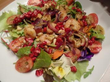 Bunter Salat mit Garnelen - Rezept - Bild Nr. 12322