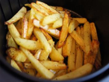 Selbstgemachte Pommes frites in der Heißluftfritteuse - Rezept - Bild Nr. 2