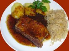 Dicke geschmorte Rippchen mit Sauerkraut - Rezept - Bild Nr. 2