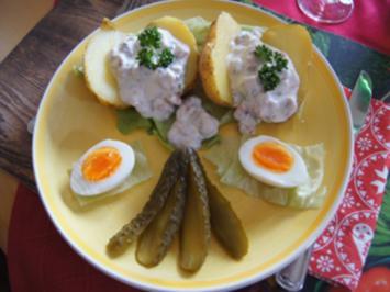 Backofenkartoffeln mit Nordseekrabbendip - Rezept - Bild Nr. 2