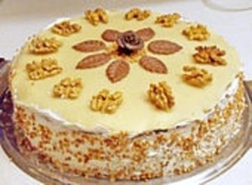Marzipan - Nuss - Torte - Rezept