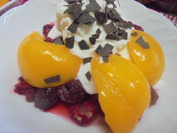 Pfirsich Melba Eis-Dessert - Rezept - Bild Nr. 2