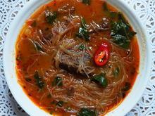 Thailändische Rindfleischsuppe mit Glasnudeln - Rezept - Bild Nr. 2