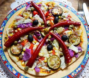 "Vegane Gyros Pizza ""Fethiye"" als Vorspeise - Rezept - Bild Nr. 12389"