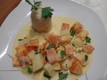 Kürbis-Kartoffel-Curry mit Kokosmilch - Rezept - Bild Nr. 12390