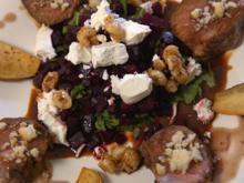 Lamb Gaytime Pops mit geröstetem Bete Tartar und Süßkartoffel-Pommes - Rezept - Bild Nr. 2