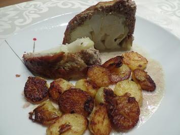 Blumenkohl-Bombe mit Bratkartoffeln - Rezept - Bild Nr. 12422