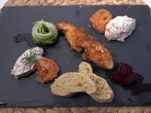Fisch, Brot, rote Bete und Gurkensalat - Rezept - Bild Nr. 2