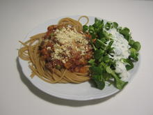 Spaghetti Veganese mit Feldsalat = kochbar Challenge 01.0 (Januar2021) - Rezept - Bild Nr. 2