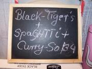 Black Tiger- Garnelen auf Spaghetti mit Indischen Currysoßen Gewürz - Rezept - Bild Nr. 12673