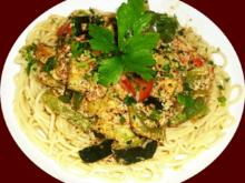 Gemüsepfanne mediterran auf Spaghetti - Rezept - Bild Nr. 2